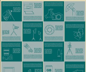 Green style photography infographics vectors