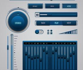 High quality blue Inridia UI Kit
