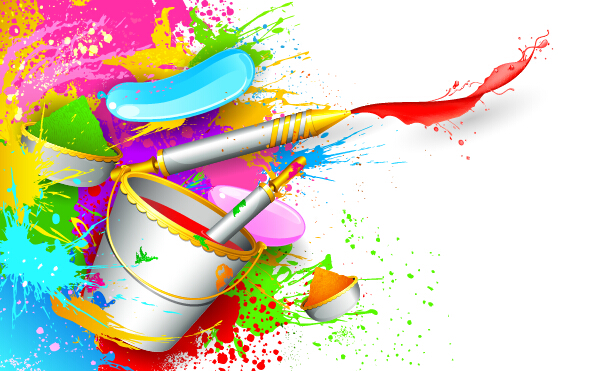 Holi Creative Background Art Vector 07 Free Download