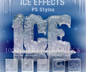 Ice Effect PS Styles