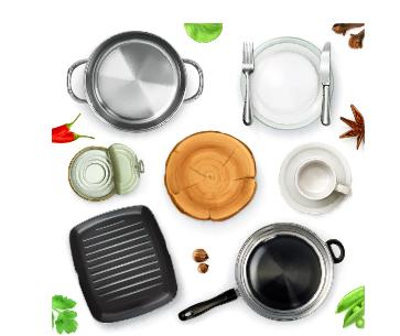 Kitchen utensils design elements vector set 03 Vector Life free