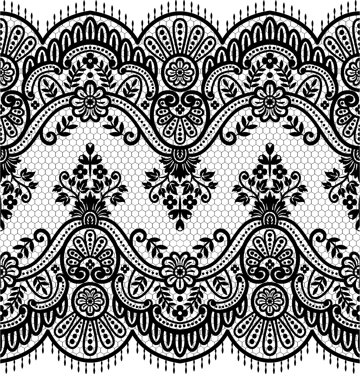 90a6423eb2 Lace seamless borders vectors set 01 free download