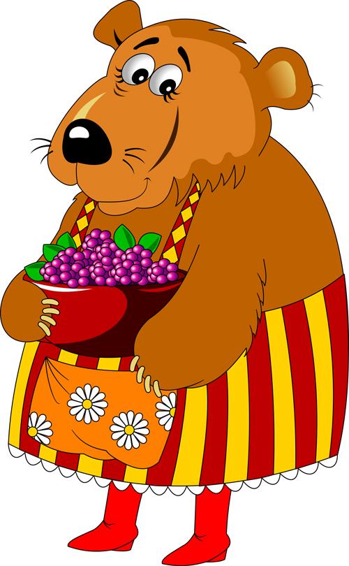 Mama bear vecor illustration 02