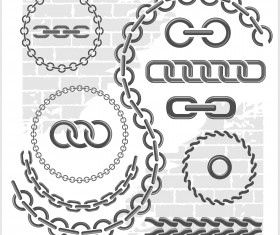 Metal chains vector design 01