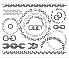 Metal chains vector design 02