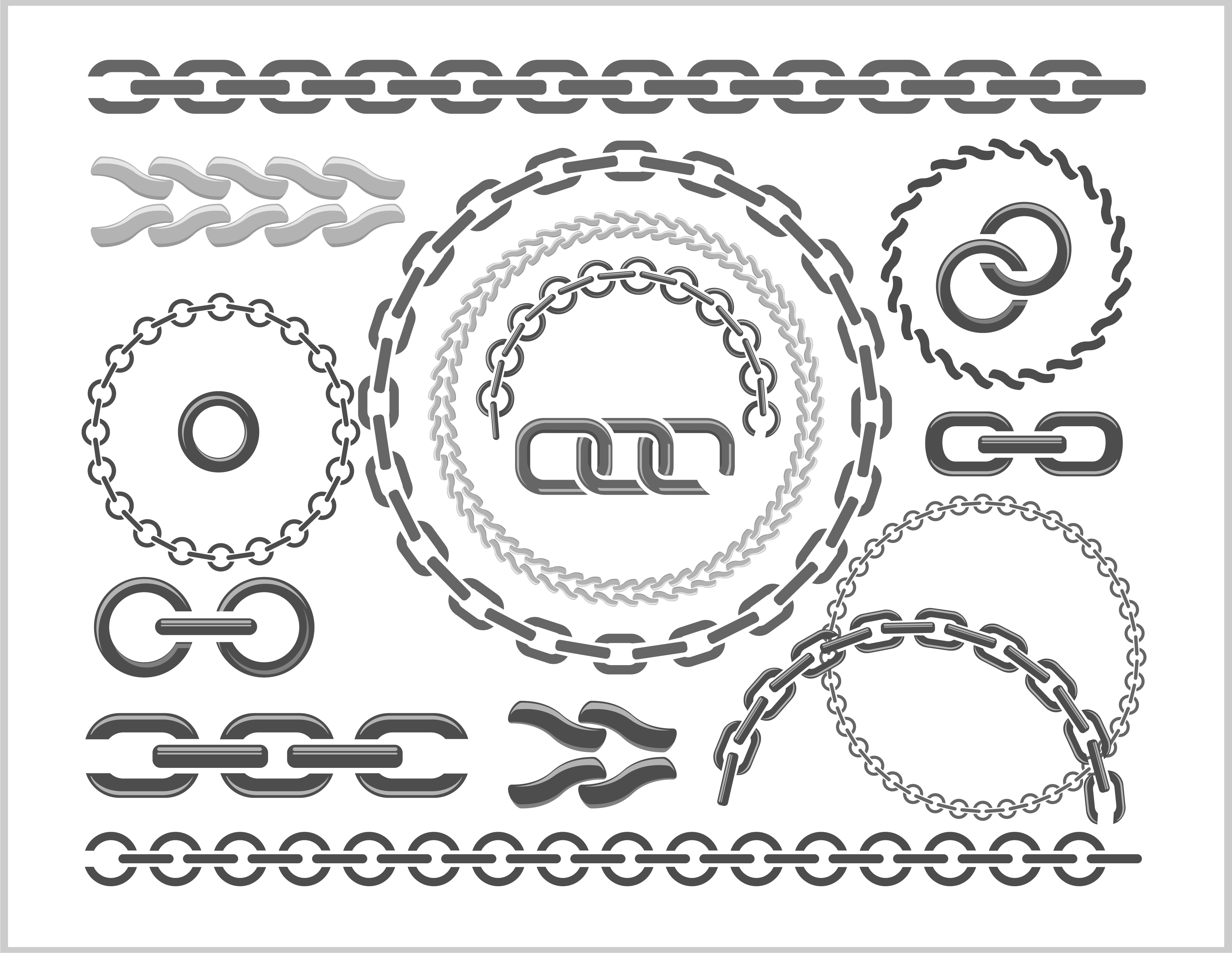 Metal chains vector design 02 free download
