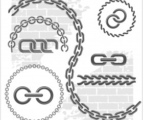 Metal chains vector design 03