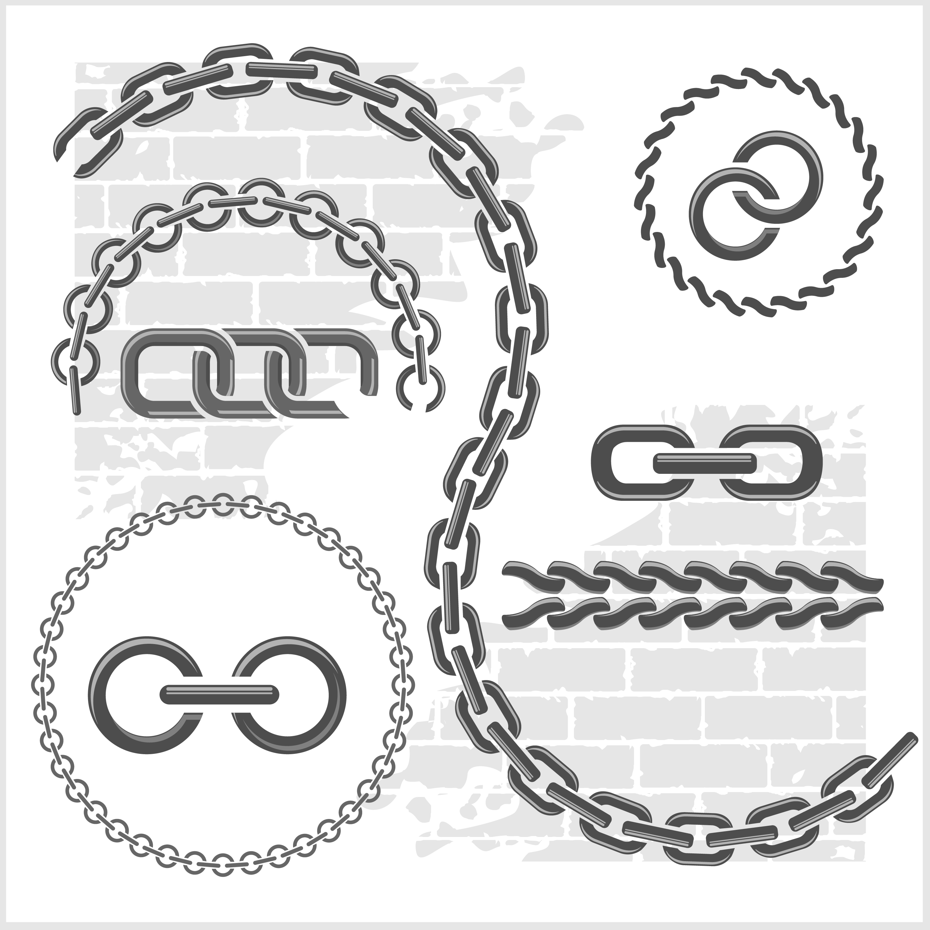 Metal chains vector design 03 free download  Chain Vector