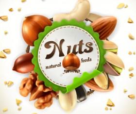 Nuts vector label 01