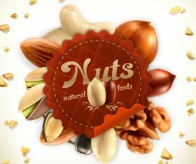 Nuts vector label 02