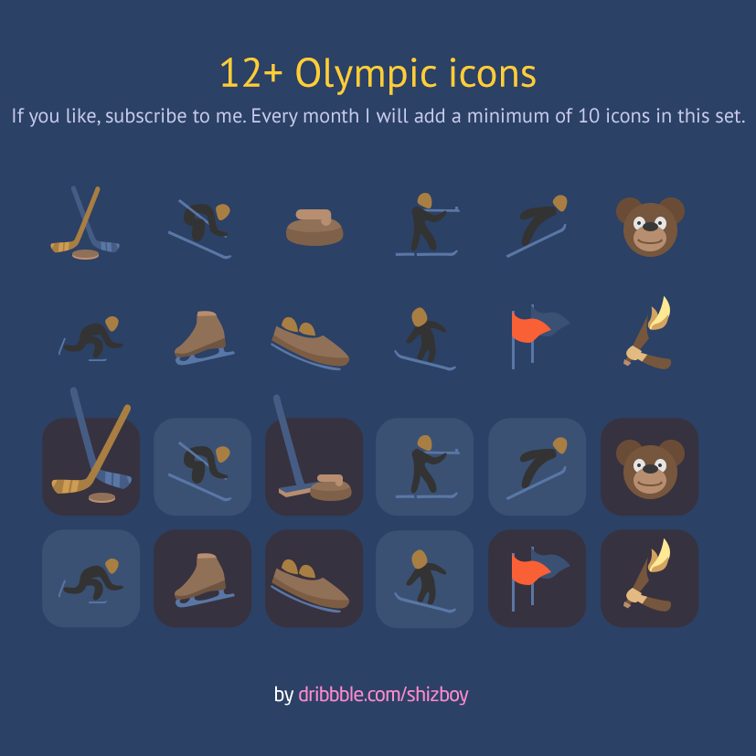 Olympic Winter Sport Icons set