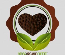 Organic coffee logos desgin vector 01