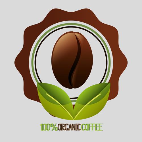 Organic coffee logos desgin vector 02