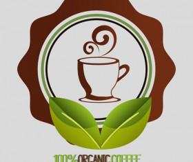 Organic coffee logos desgin vector 03