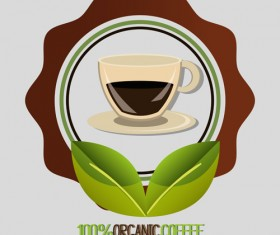 Organic coffee logos desgin vector 04