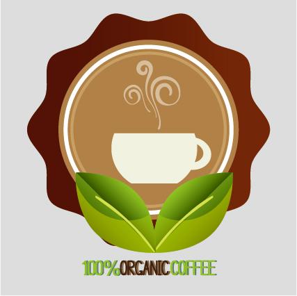 Organic coffee logos desgin vector 06
