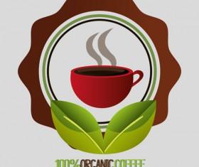 Organic coffee logos desgin vector 07