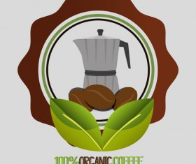 Organic coffee logos desgin vector 09
