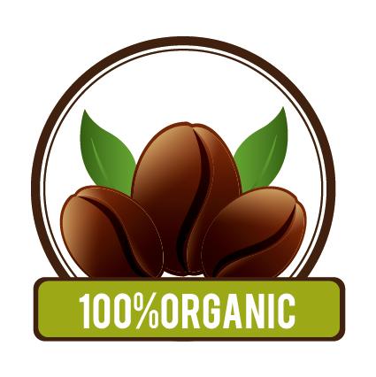Organic coffee logos desgin vector 10