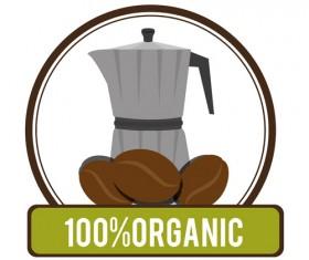 Organic coffee logos desgin vector 11