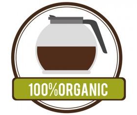 Organic coffee logos desgin vector 12