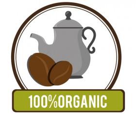 Organic coffee logos desgin vector 13