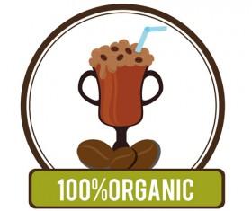 Organic coffee logos desgin vector 14