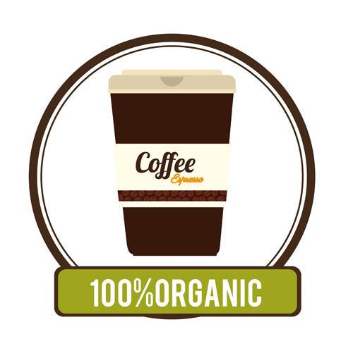 Organic coffee logos desgin vector 15