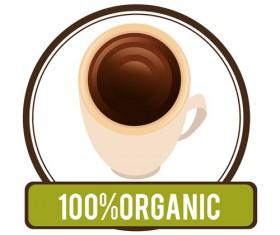 Organic coffee logos desgin vector 16