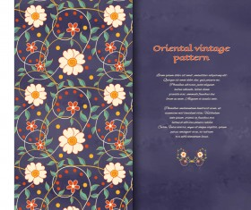 Oriental abstract background vintage vector 01