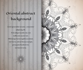 Oriental abstract background vintage vector 03