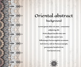 Oriental abstract background vintage vector 04