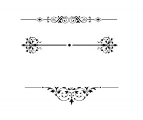 Ornaments floral borders burshes