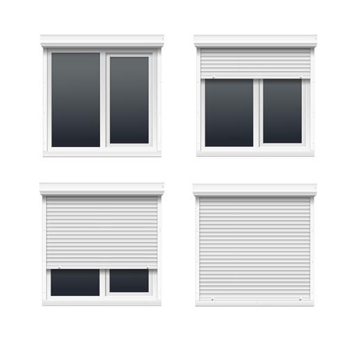 Plastic window design template vector 01