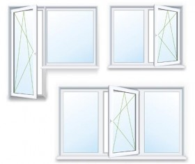 Plastic window design template vector 02