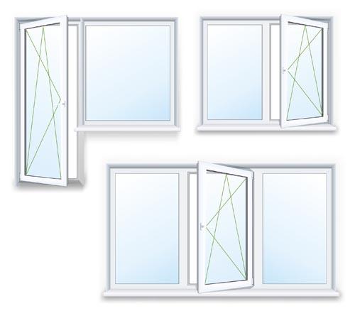 Plastic window design template vector 02