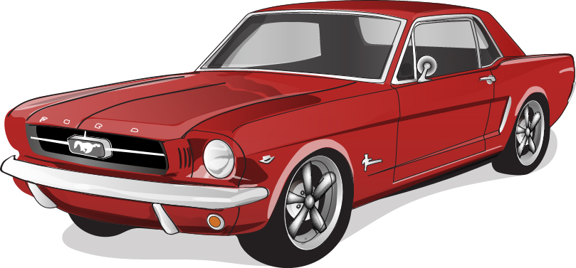 Red Vintage Car Vector Material Vector Car Free Download