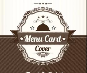 Retro styles restaurant menu cover vectors 01