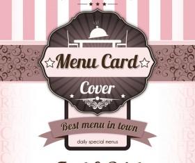 Retro styles restaurant menu cover vectors 02