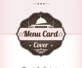 Retro styles restaurant menu cover vectors 06