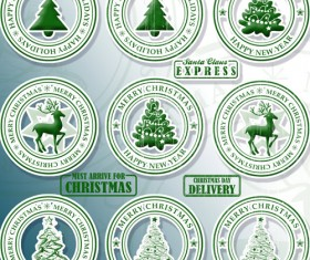 Round Christmas Stamps Brushes