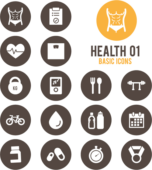 Round health icons vector set 02 - Other Icons free download