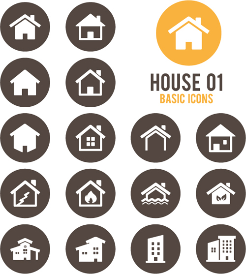 Round home icons vector 01 - Life Icons free download
