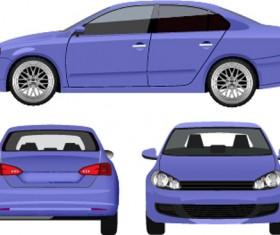 Sedan from three angles vector