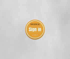 Sign in yellow button psd material