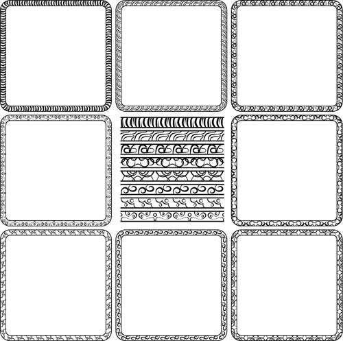 simple black frame vector free download