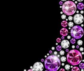 Shining diamond art background 03