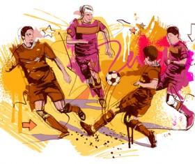 Soccer sport hand drawn vector 04