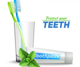 toothbrush vector for free download