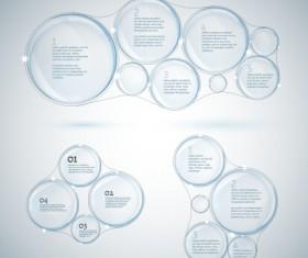 Transparent drops infographics vector 01